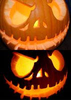 Jack Skellington Pumpkin by GillianIvy