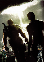Chris and Sheva by AuraIan