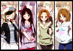 K-ON bookmarks by arielucia