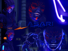 Asari Instinct Wallpapers by RicciOnly
