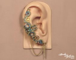 Electric steampunk ear cuff by bodaszilvia