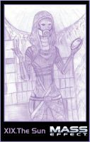 Mass effect tarot - XIX. Cute Tali by Tarotmaster