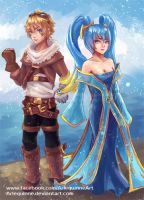 League of Legends - Ezreal + Sona by Arlequinne