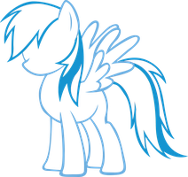 Rainbow Dash Outline Vector by RDbrony16
