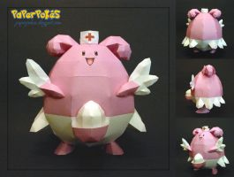 Pokemon Papercraft - Blissey by PaperBuff