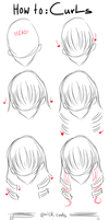 TUTORIAL: Hair - Curls by koyupii
