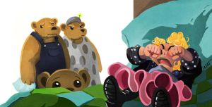 Goldie and the Three Bears by MNat