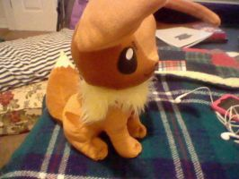 eevee plush side view by IrkenInvaderKim0523