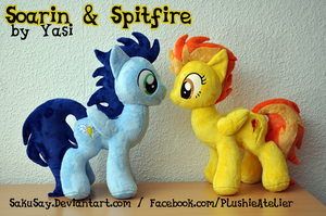 Soarin and Spitfire Plushies by SakuSay