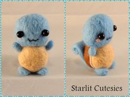 Needle Felted Chibi Squirtle! by Charlottejks