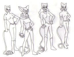 Different Designs of Catwoman by KessieLou