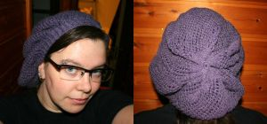 Super slouchy lace hat by KnitLizzy