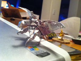 The Origami Dragon Rider by derikvyreflame