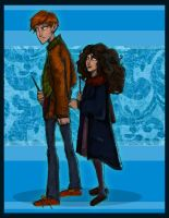 Ron and Hermione- first year by Hillary-CW