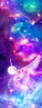 Custom Box Pegasus Galaxy Background by LizzyWolfFire6