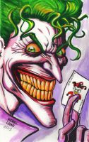Grinning Joker w/ Card 2013 by myconius