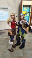 Astrid and Ruffnut by SuzakuLover8