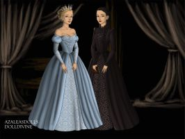 Tudors Glinda and Elphaba by QueenoftheLemurs