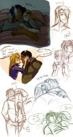 AB: GxA Early Morning Doodles by MooFrog44