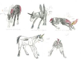 horse foals from hell by Forget-Me-Not-Fields