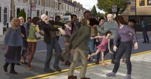 Zombies in the Street by OralGiacomini