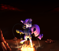 Collaboration: Hell at her Doorstep by MykeGreywolf