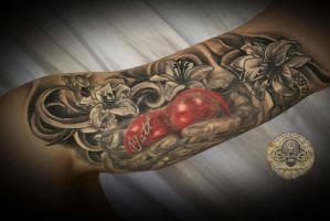 Memory Hands Heart Lily tat by 2Face-Tattoo