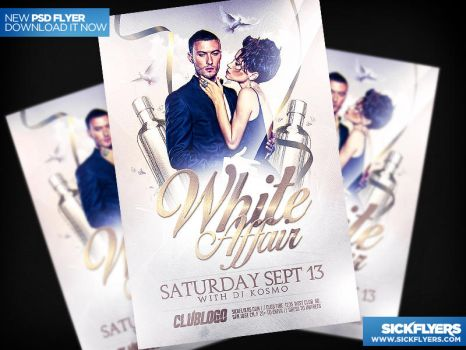 All White Party Flyer Template PSD by Industrykidz