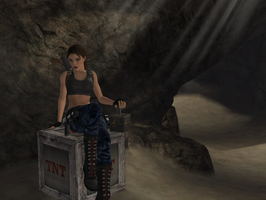 Tomb Raider III Nevada Desert by sk8terwawa