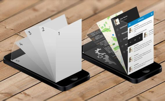 iPhone App Mock-Up Templates by kevinhamil