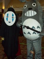 AD 2011 - No face and Totoro by Wolf-girl-Alchemist9