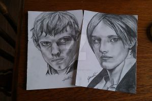 Penny Dreadful- Victon and Dorian Sketches by Gotashi-Chan
