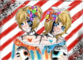 the two headed man-darkwood circus by NENEBUBBLEELOVER