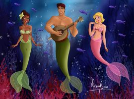 TIANA, NAVEEN AND LOTTY MERMAIDS by FERNL