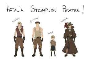 Hetalia Steampunk Pirates.. by Camilla205