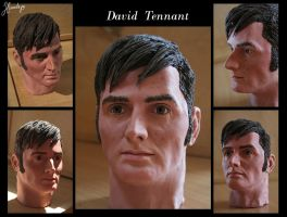 David Tennant - sculpture by Lenka-Slukova