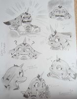 Expressions of Gabo in A3 Pad by sakura11