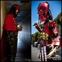 My Vincent Valentine and Big Red Predator Cosplays by Metallica005
