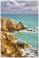 Cabo Rojo Lighthouse Cliffs by Vamppy