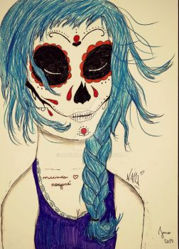 Blue hair by Nabilita