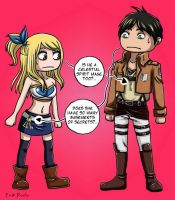 Eren and Lucy by Eva-Dudu