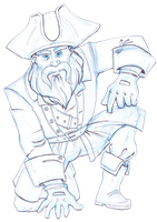 Big Beard the Pirate by Eliket