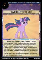 Twilight Sparkle special card by Trivial1888