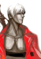 Rough sketch19 - Son of Sparda by ultimatewp