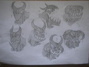 Baal's head designs