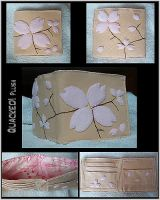 Cherry Blossom Wallet by quacked