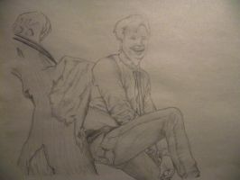 Patrick Stump up a tree-pencil by Armadeo
