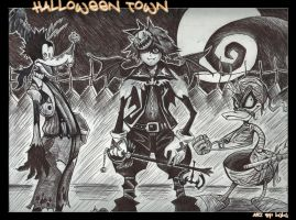 Kingdom Hearts Halloween Town by lil-lulu-