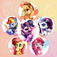 The Mane Six by Bobdude0