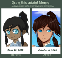 Draw This Again: Korra by Zuriii